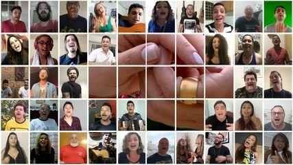 Artistas da região gravam mensagem de fé e otimismo