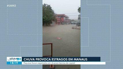 Chuva causa transtornos em Manaus