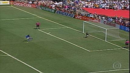 Os pênaltis de Brasil 0 (3) x (2) 0 Itália pela final da Copa do Mundo de 1994