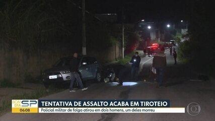 Dois suspeitos são baleados por policial de folga durante tentativa de assalto