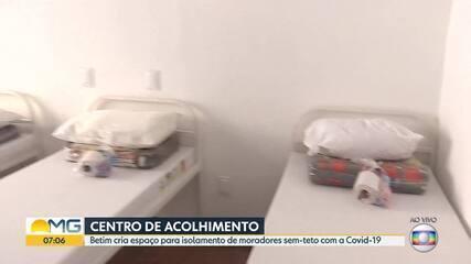 Betim cria espaço para isolamento de moradores sem-teto com a Covid-19