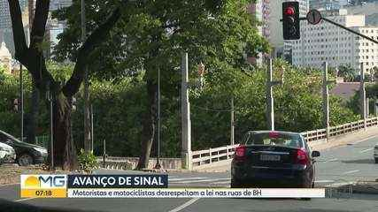 Motoristas e motociclistas desrespeitam a lei nas ruas de Belo Horizonte