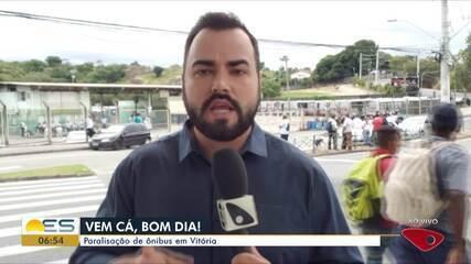 Ônibus municipais de Vitória estão parados