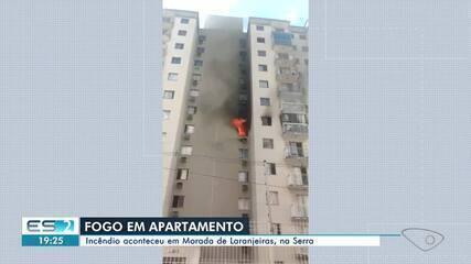 Incêndio atinge apartamento em condomínio na Serra