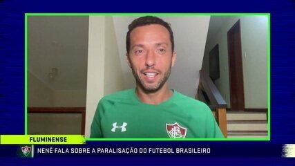 Nenê fala sobre paralisação do futebol e pede a presidente renovação com o Fluminense