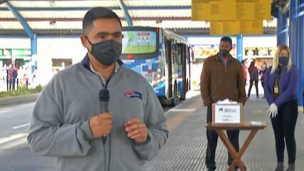 Empresa de transporte da região vai distribuir máscaras em terminal em Suzano