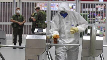 Exército faz higienização em Suzano