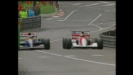Confira a última volta do Grande Prêmio de Monaco de 1992