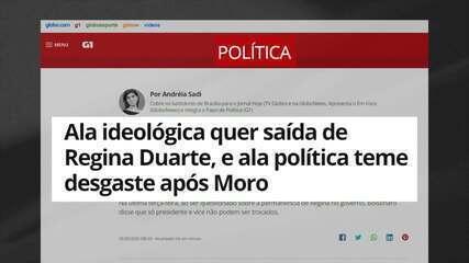 Sadi: ala ideológica do governo quer saída de Regina Duarte, e ala política teme desgaste