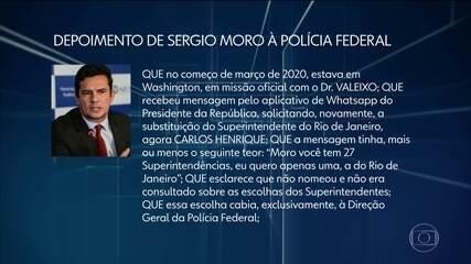 Veja no JN as principais declarações do ex-ministro Sergio Moro no depoimento à PF