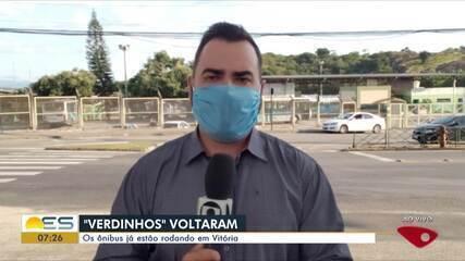Ônibus municipais estão rodando em Vitória