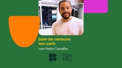 Pedro Carvalho ensina receita de bolo de cenoura low carb
