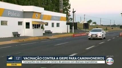 Vacinação em rodovias paulistas para caminhoneiros