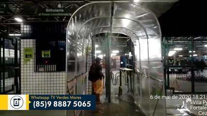 Túnel higienizador está em teste no Terminal do Siqueira