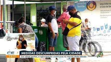 Segundo dia de lockdown registra aglomerações em Fortaleza