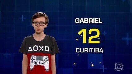 Gabriel conta que sua matéria preferida é matemática e gosta de fazer programação de jogos e de robótica nas horas vagas