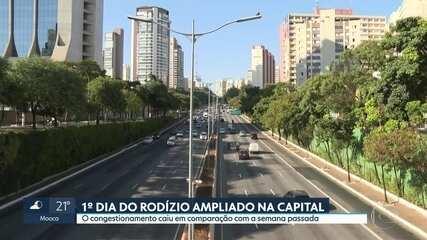 São Paulo registra congestionamento quase zero nesta segunda (11)