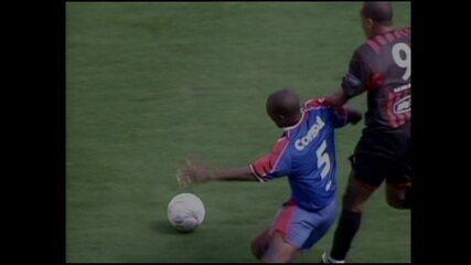 Athletico-PR 4 x 2 São Caetano pelo 1º jogo da final do Campeonato Brasileiro 2001