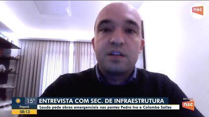 Secretário da Infraestrutura fala do transporte público em SC e sobre os laudos das pontes