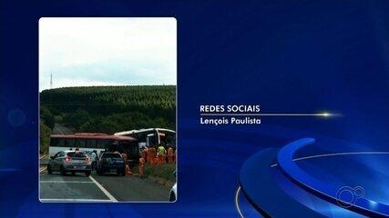 Duas vítimas de acidentes entre ônibus em Lençóis Paulista seguem internadas