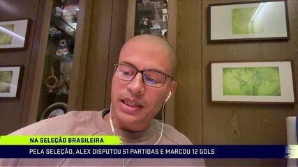 Alex repassa carreira e explica porque não foi a nenhuma Copa do Mundo