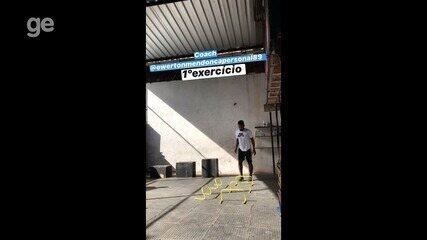 Alan do Interporto segue treinando em casa