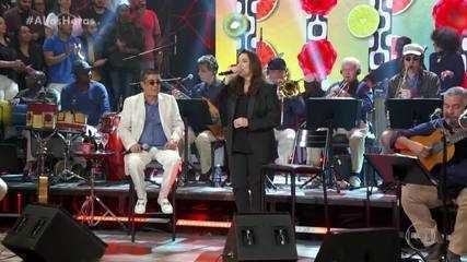 Zeca Pagodinho e Ana Carolina cantaram 'Deixa a Vida Me Levar'