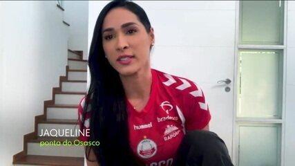 EE de casa entrevista Jaqueline, do vôlei