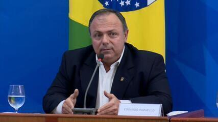 Bolsonaro e Pazuello discutem mudanças no tratamento contra o novo coronavírus