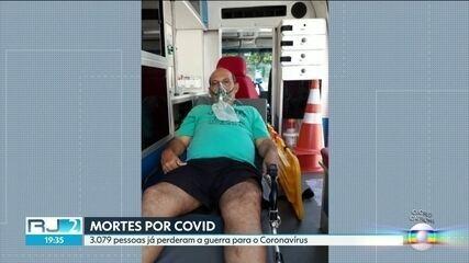 Mortes por Covid chegam a 3.079 no estado.