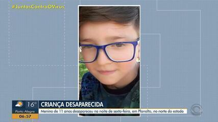 Polícia faz buscas por menino de 11 anos desaparecido em Planalto