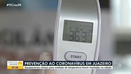 Equipamentos móveis para medição de temperatura corporal são instalados em Juazeiro