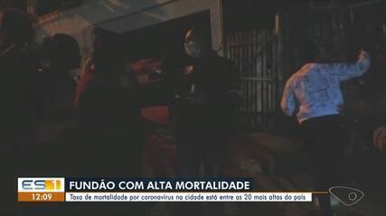 Fundão já esteve entre os 20 municípios com a maior mortalidade pelo vírus no país