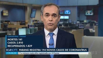 Paraná registra 141 mortes e 2.810 casos confirmados, diz Sesa