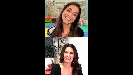 Fátima Bernandes participa de Live especial à convite de CIF e Thais Fersoza