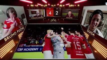 Internacional/Bruno Fuchs 0 (4) x (2) 0 Guga/Atlético-MG pelo Controle de Ouro