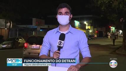 Detran anuncia retorno de atividades para a próxima semana em Belo Horizonte