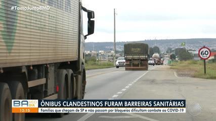 Transportes clandestinos furam barreiras sanitárias trazendo famílias de São Paulo para BA