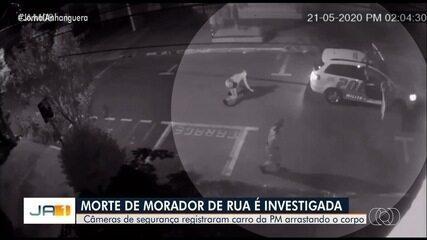 Carro da Polícia Militar atropela e arrasta morador de rua em Goiânia; vídeo (JA1)