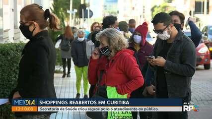 Shoppings reabrem em Curitiba