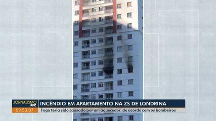 Apartamento pega fogo na zona Sul de Londrina