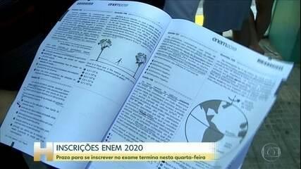 Após prorrogação, novo prazo de inscrição no Enem 2020 termina nesta quarta-feira