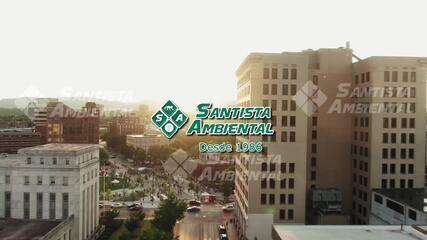 Santista Ambiental mostra como funciona o Arco de Sanitização