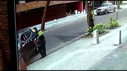Vídeo mostra assalto no Leblon, Rio