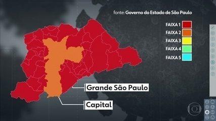 Grande São Paulo está na 'faixa vermelha' do Plano de Flexibilização