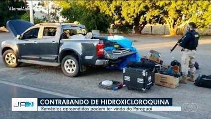 PRF prende quatro pessoas suspeitas de contrabando de hidroxicloroquina