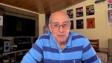 Pedro Bial faz homenagem a seleção brasileira de setenta e conversa com Gérson Canhotinha