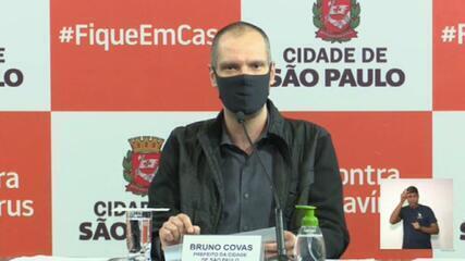 Bruno Covas detalha reabertura gradual em SP