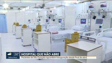 Inauguração do hospital de campanha de São Gonçalo corre risco de não acontecer nesta quinta (28)