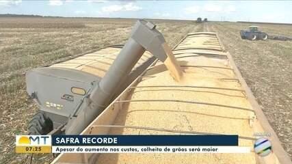 Apesar da crise, produção de grãos bate recorde